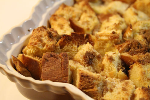 Challah Bread Pudding with Bourbon Brown Sugar Sauce – A Cup of ...