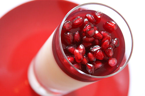Pomegranate Panna Cotta Recipe — Dishmaps