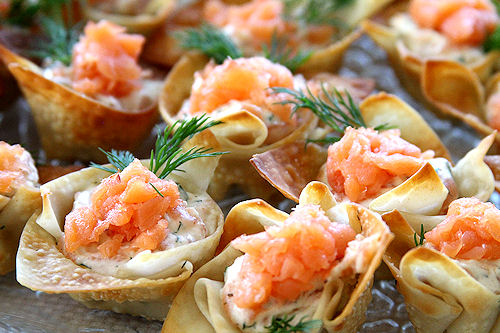 Smoked Salmon & Horseradish Mascarpone In Wonton Cups Recipes ...