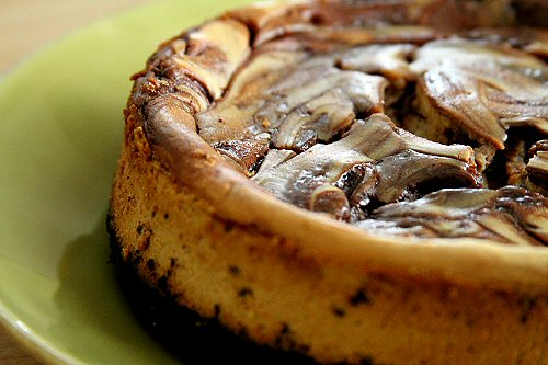 Cappuccino Cheesecake with Espresso Fudge Sauce – A Cup of Sugar ...