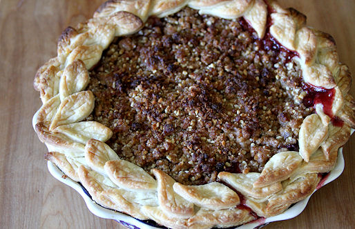 Cherry Peach Pie with Ginger-Almond Crunch – A Cup of ...