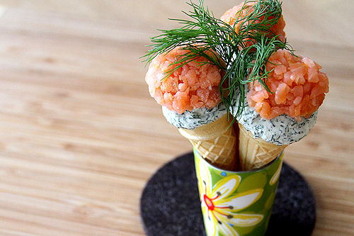Smoked Salmon and Dill Mini-Ice Cream Cones – A Cup of ...