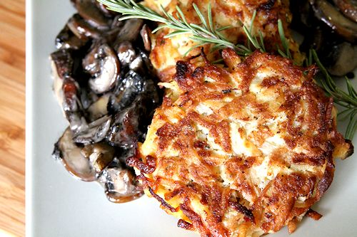 Rosti-Style Potato Latkes With Rosemary And Brown Butter Applesauce ...
