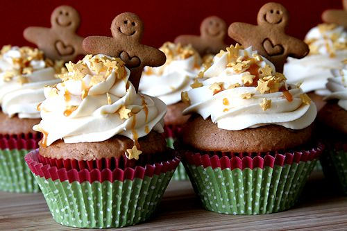 Gingerbread Cupcakes with Caramel Rum Frosting – A Cup of Sugar ...