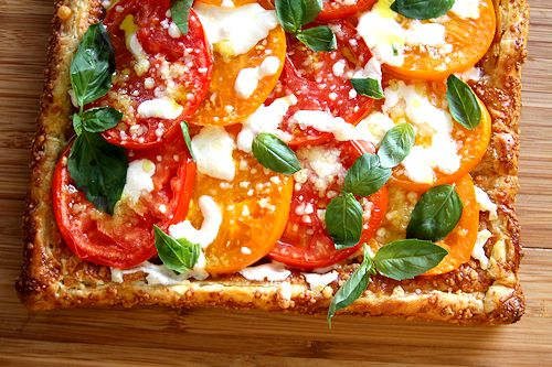 Heirloom Tomato And Mozzarella Tart Recipes — Dishmaps